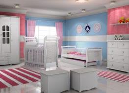 Amoblando la habitación bebé con la cuna, comoda y sillón